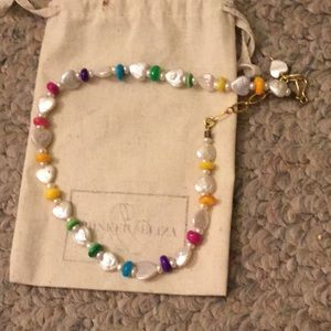 NWOT brinker and Eliza heart pearl necklace